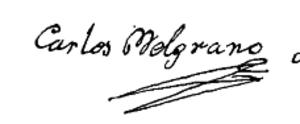 Carlos José Belgrano - Image: Carlos Belgrano firma