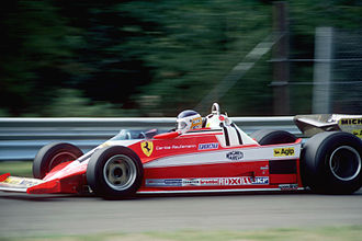 Carlos Reutemann - Reutemann Driving his Ferrari 312T3, Reutemann won the 1978 USA Grand Prix at Watkins Glen, USA.