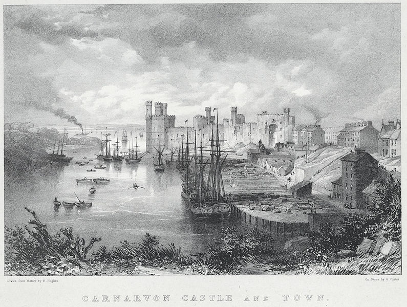 File:Carnarvon Castle and town.jpeg