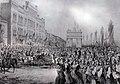 Carol Popp de Szathmary, Celebration of Prince Milan Obrenovic's Reaching the Age of Majority on 10 August 1872, Bucharest 1872, lithograph.jpg