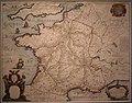 Carte de France Relais des postes XVIIIème siècle (cropped).jpg