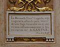 Cartel·la amb la història de Francesca Coppola, capella del beat Gaspar Bono, església de sant Sebastià, València.JPG