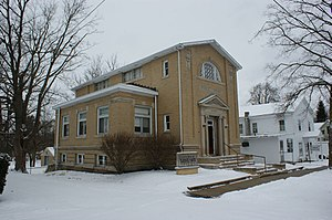 Cass District Library - A view of the Local History Library in downtown Cassopolis, Michigan.  This building was home to the former LaGrange Township Library donated by Andrew Carnegie.