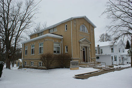 A view of the Local History Library in downtown Cassopolis, Michigan.