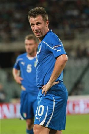 Antonio Cassano - Cassano with the Italian team
