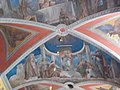 Castle church. Named after St. John the Baptist. Listed ID 7400. Arches and ceiling painting. - Várdomb, Szentendre, Pest County, Hungary.JPG
