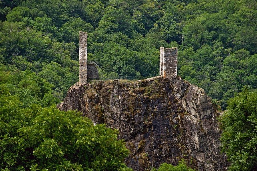 Castle of Peyrusse-le-Roc, Aveyron, France