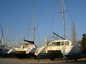 Catamaran type sailing boats