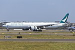Cathay Pacific (B-KPR) Boeing 777-367(ER) at Sydney Airport (1).jpg