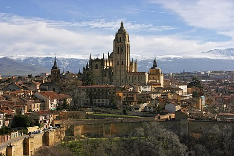 Cathedral of Segovia from the Alcazar