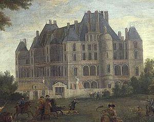 Château de Madrid - The château in 1722.