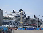 Celebrity Infinity at Liverpool 2013-06-09 - view from Pier Head (2).JPG