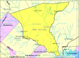 Washington Township, Burlington County, New Jersey - Image: Census Bureau map of Washington Township, Burlington County, New Jersey