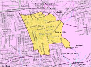 Central Islip, New York - Image: Central islip ny map