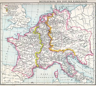 Duchy of Croatia - Central Europe in Carolingian times