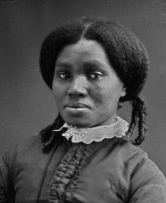 Afro-textured hair - Image: Cerca 1850 African American woman