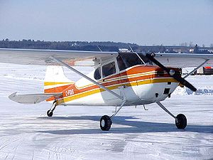 Cessna 170 - Cessna 170A on an ice runway near Ottawa, Ontario