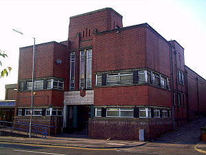 Henry Taylor (swimmer) - Following his Olympic career, Taylor was an attendant at Chadderton's swimming baths (pictured). Taylor's awards and a commemorative blue plaque are displayed at the baths.
