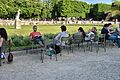 Chairs in the Luxembourg Gardens, Paris May 2014.jpg