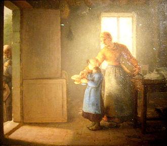 Peasant Character Studies (Van Gogh series) - Jean-François Millet, La Charité, 1859