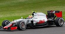 Leclerc al volante di una Haas nel 2016
