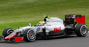Charles Leclerc (racing driver) - Leclerc driving a Haas VF-16 during free practice at the 2016 British Grand Prix.