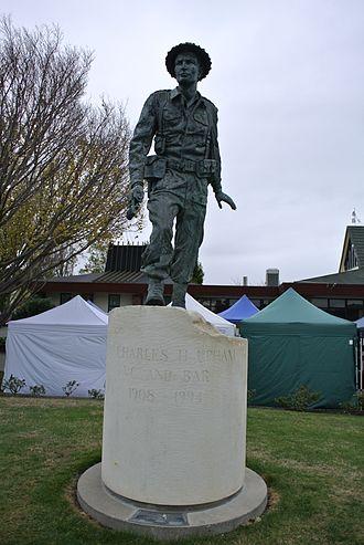 Amberley, New Zealand - Statue of Charles Upham