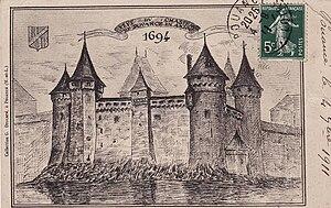 Pouancé Castle - A 19th century reproduction of the castle of Pouancé.