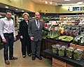 Checking out the wonderful fresh produce and sweets at Dearborn Fresh Supermarket with Dearborn Mayor O'Brien. Thanks, Kal, for your business leadership! (42603984362).jpg