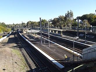 Chelmer railway station - Northbound view in August 2012