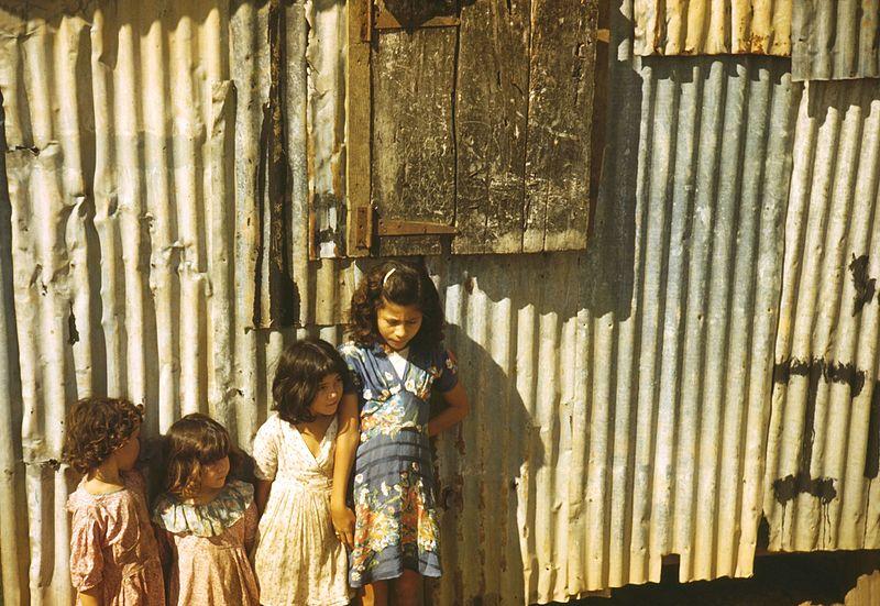 Children in a company housing settlement, Puerto Rico 1a34030u.jpg