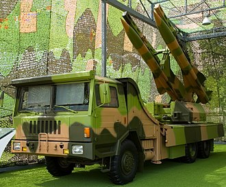 KS-1 (missile) - A KS-1A mobile SAM launcher on display at the Military Museum of the Chinese People's Revolution in Beijing