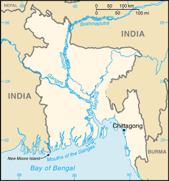 2007 Chittagong mudslides - Location of Chittagong