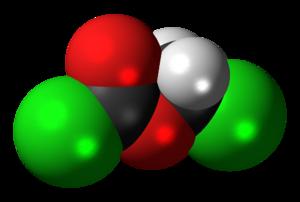 Chloromethyl chloroformate - Image: Chloromethyl chloroformate 3D spacefill