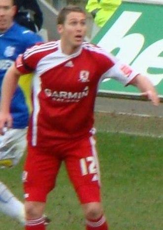 Chris Killen - Chris Killen playing for Middlesbrough