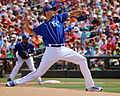 Chris Young delivers a pitch (25592857632).jpg