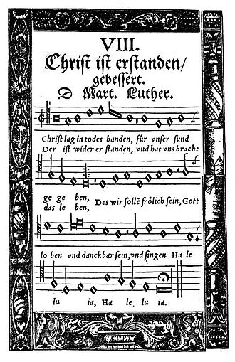 Christ lag in Todesbanden - Hymn in the Babstsche Gesangbuch