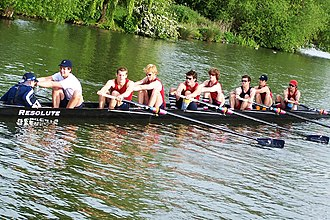 Robin Bourne-Taylor - Christ Church Men's 1st VIII 2005 with Bourne-Taylor at 7