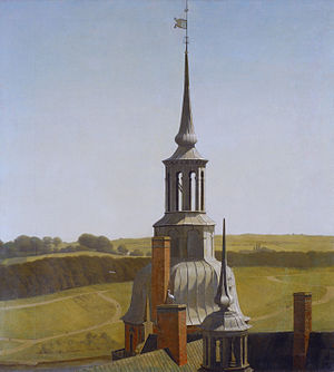 1835 in art - Christen Købke – One of the Small Towers on Frederiksborg Castle