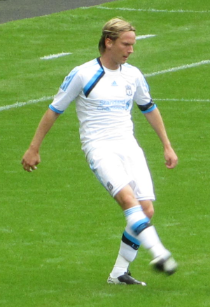 Christian Poulsen - Poulsen playing for Liverpool in 2011