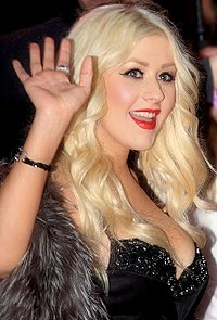Christina Aguilera at the premiere of Burlesque at the Empire