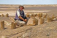 Christoph Baumer at Bronze Age graveyard Gumugo 2009.jpg
