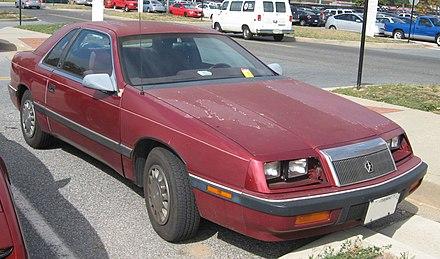 1987 1992 Lebaron Coupe Headlight Covers Open