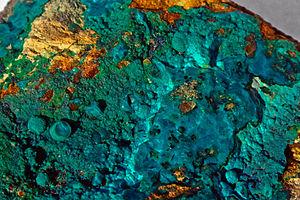Silicate minerals - Copper silicate mineral chrysocolla
