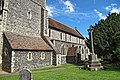 Church of St Mary the Virgin, Eastry, Kent - churchyard at south.jpg