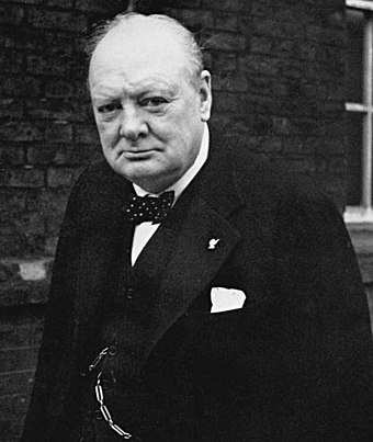 British Prime Minister Winston Churchill was ultimately responsible for the bombing, even though he later tried to distance himself from it. Churchill portrait NYP 45063.jpg
