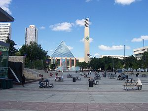 Churchill Square (Edmonton) - Churchill Square looking towards City Hall