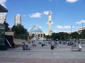 Downtown Edmonton - Churchill Square is a major public square in Downtown Edmonton.