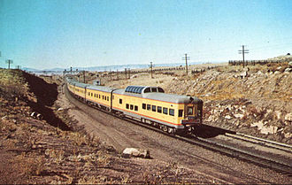 City of Los Angeles (train) - Circa 1955 westbound at Hermosa, WY.
