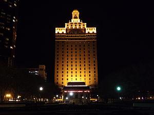 The Claridge Hotel (Atlantic City) - The Claridge Hotel at night